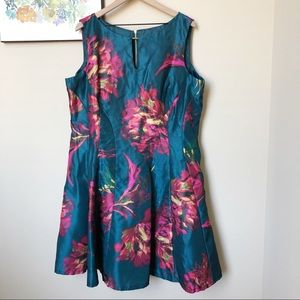 Gabby Skye Fit and Flare Floral Print Dress Sz 18